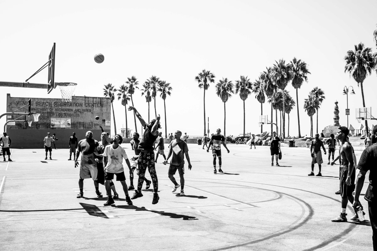 Los Angeles - Venice beach - basketball game