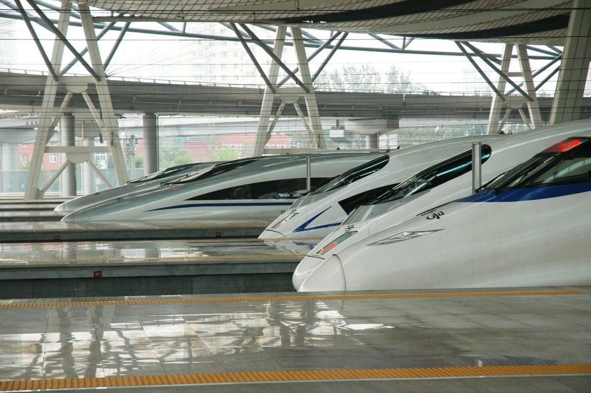 Kitajski hitri vlak na postaji